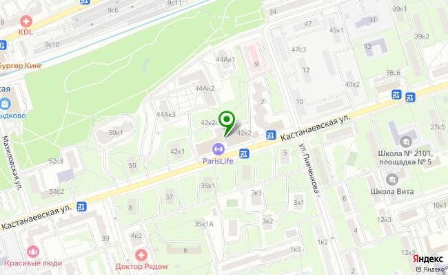 Сбербанк Москва ул. Кастанаевская 42, корп.2 карта