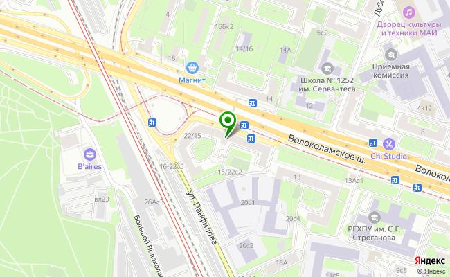 Сбербанк Москва шоссе Волоколамское 15/22 карта