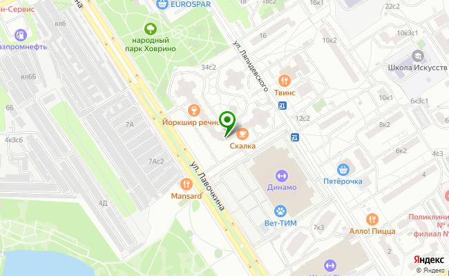 Сбербанк Москва ул. Лавочкина 34 карта