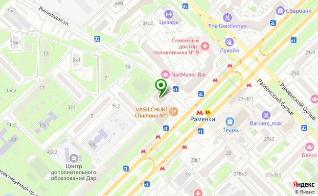 Сбербанк Москва ул. Винницкая 1 карта