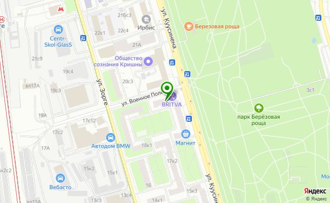Сбербанк Москва ул. Куусинена 19, корп.3 карта