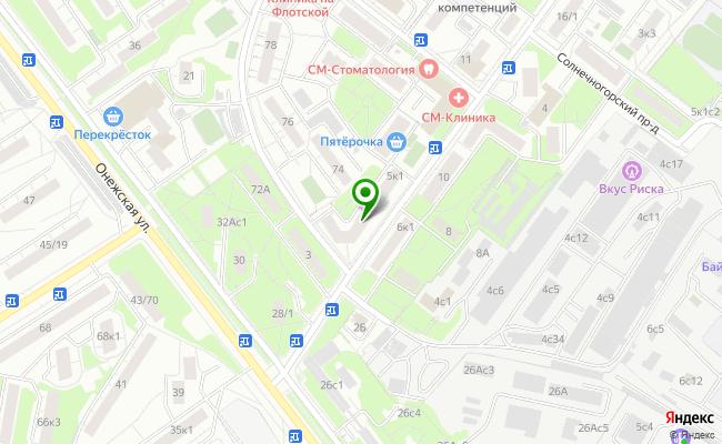 Сбербанк Москва ул. Солнечногорская 5, корп.1 карта