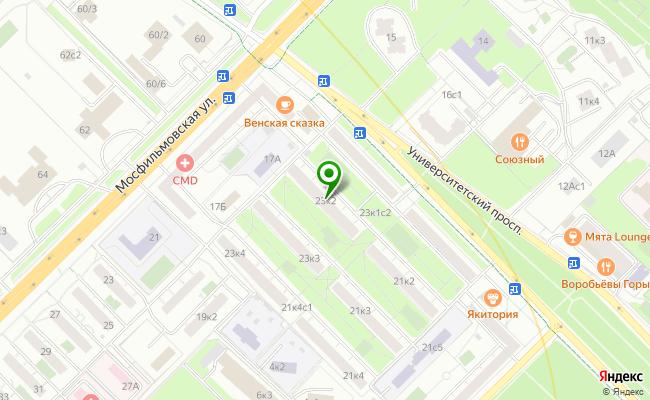 Сбербанк Москва проспект Университетский 23, корп.2 карта