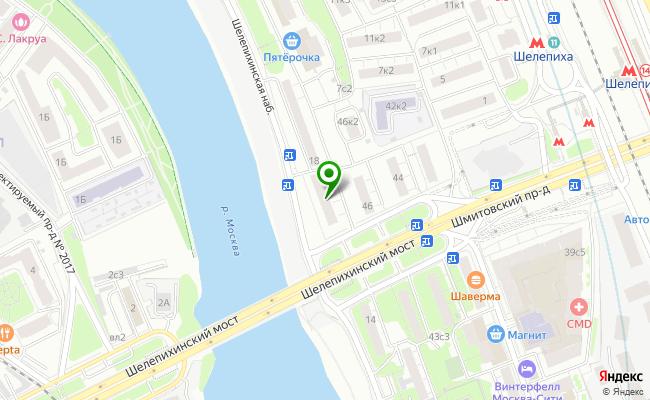 Сбербанк Москва набережная Шелепихинская 16, стр.1 карта