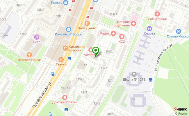 Сбербанк Москва ул. Профсоюзная 115, корп.1 карта