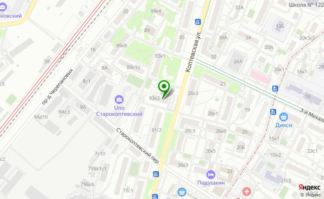 Сбербанк Москва ул. Коптевская 83, корп.2 карта