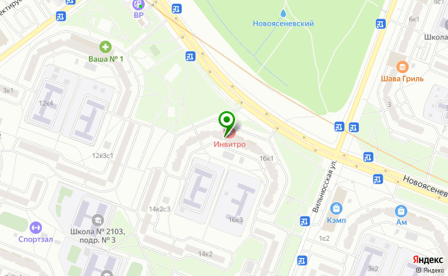 Сбербанк Москва проспект Новоясеневский 16, корп.1 карта