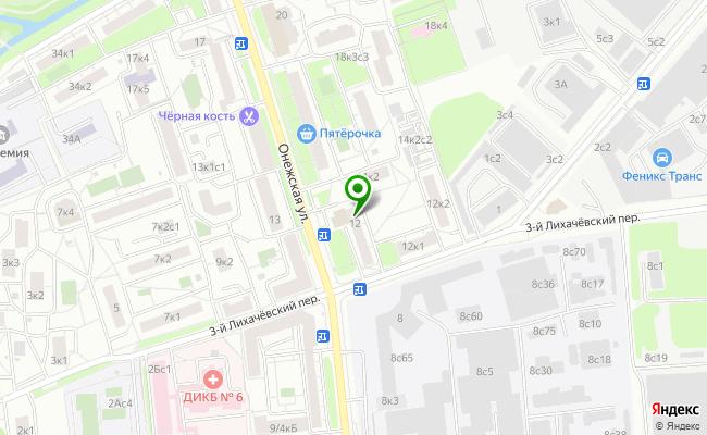 Сбербанк Москва ул. Онежская 12 карта