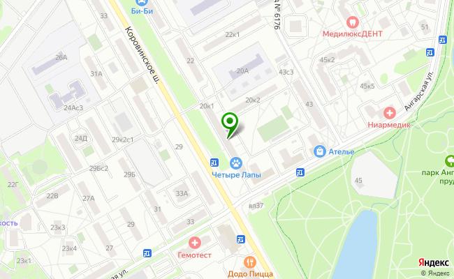 Сбербанк Москва шоссе Коровинское 20, корп.1 карта