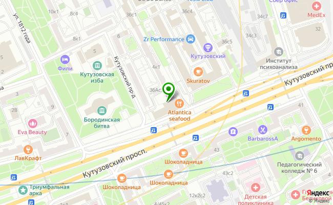 Сбербанк Москва проспект Кутузовский 36А карта