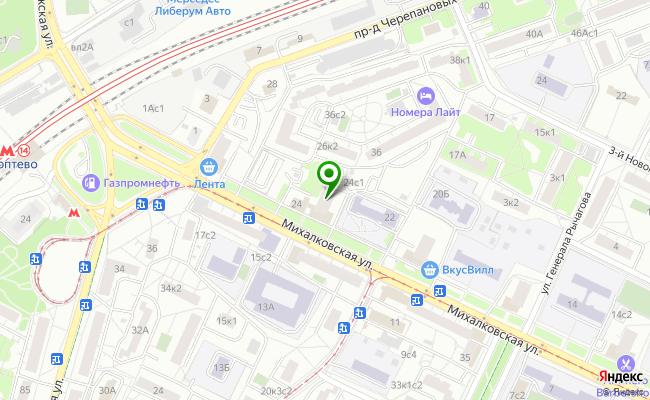 Сбербанк Москва ул. Михалковская 24 карта