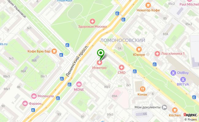 Сбербанк Москва проспект Ленинский 89, стр.2 карта