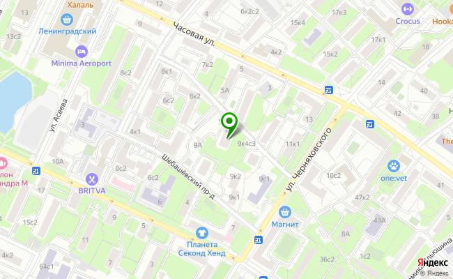 Сбербанк Москва ул. Черняховского 9, корп.5 карта