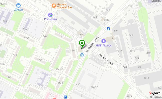 Сбербанк Москва ул. Бутлерова 30А карта