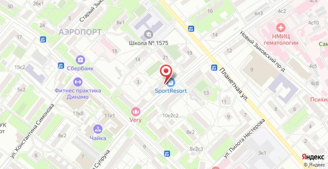 Апартаменты Апельсин на Динамо на карте