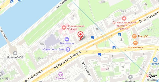 Гостевой дом Sweet Home Киевская на карте
