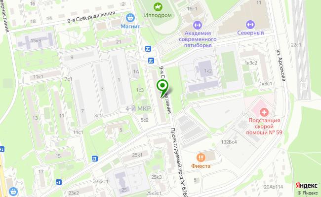 Сбербанк Москва ул. 9-я Северная линия 1, корп.1 карта