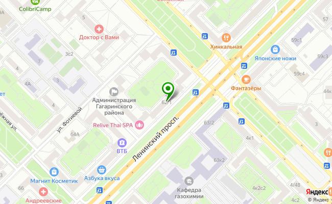 Сбербанк Москва проспект Ленинский 62/1 карта