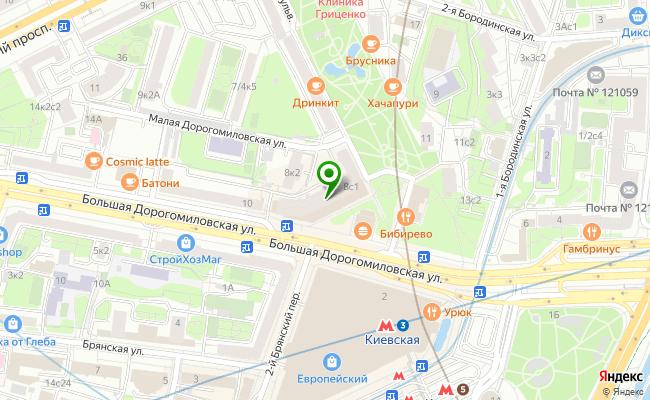 Сбербанк Москва ул. Большая Дорогомиловская 8 карта