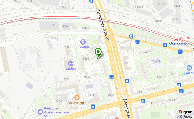 Сбербанк Москва шоссе Дмитровское 65, корп.1 карта