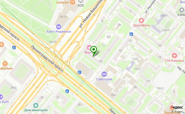 Сбербанк Москва проспект Ленинградский 34 карта