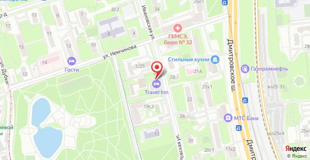Хостел Travel Inn Тимирязевская на карте