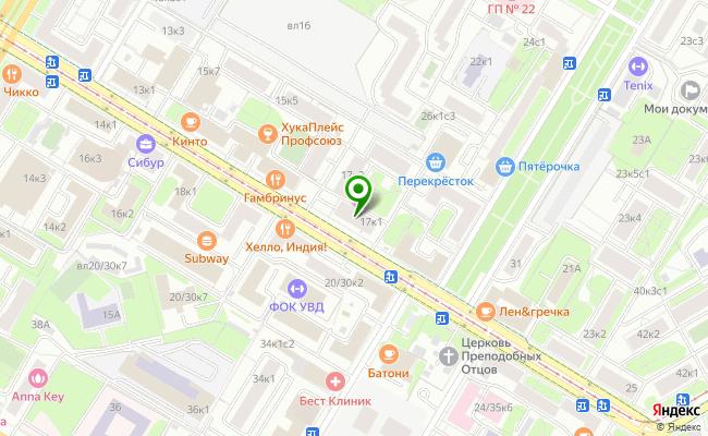 Сбербанк Москва ул. Кржижановского 17, корп.1 карта