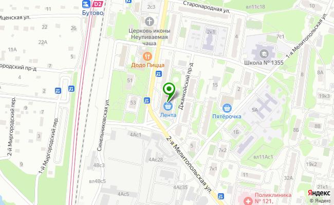 Сбербанк Москва ул. 2-ая Мелитопольская, 3А карта