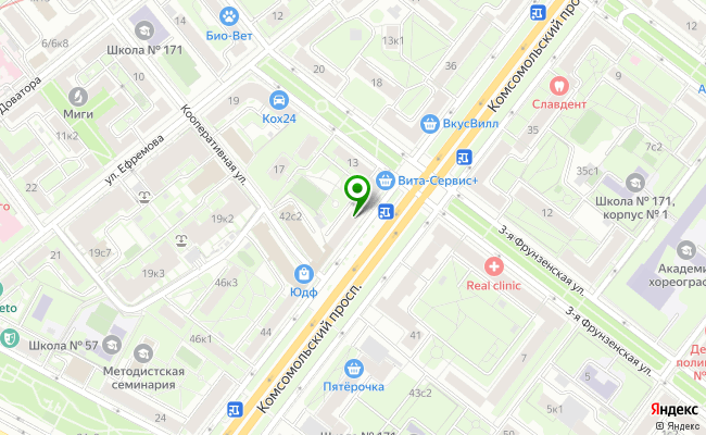 Сбербанк Москва проспект Комсомольский 40 карта