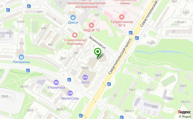 Сбербанк Москва проспект Севастопольский 28, корп.1 карта