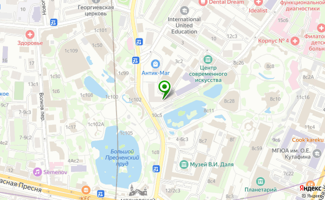 Сбербанк Москва ул. Б.Грузинская 12 карта