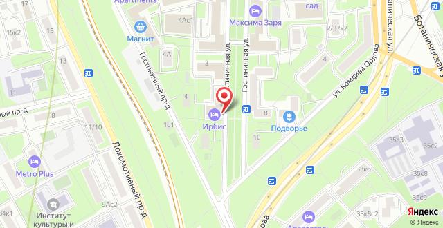 Отель Максима Ирбис на карте