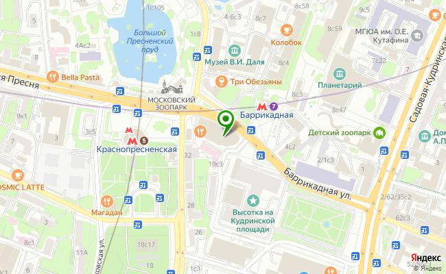 Сбербанк Москва ул. Баррикадная 19, стр.1, 0 карта