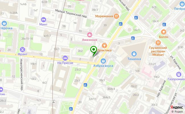 Сбербанк Москва ул. Большая Грузинская 37 карта