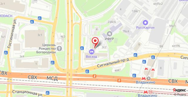 Гостиница Восход на карте