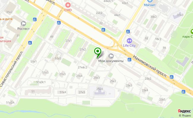 Сбербанк Москва проспект Нахимовский 25А карта