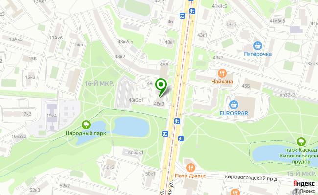 Сбербанк Москва ул. Чертановская 48, корп.3 карта