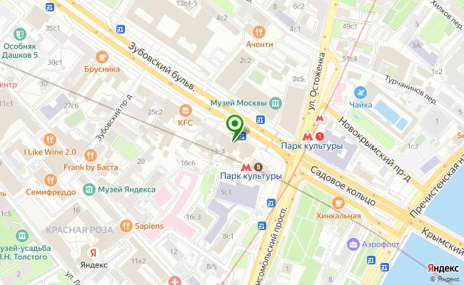 Сбербанк Москва бульвар Зубовский 13, стр.1 карта