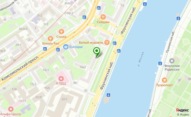 Сбербанк Москва набережная Фрунзенская 16, корп.1 карта
