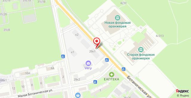Отель Останкино на карте