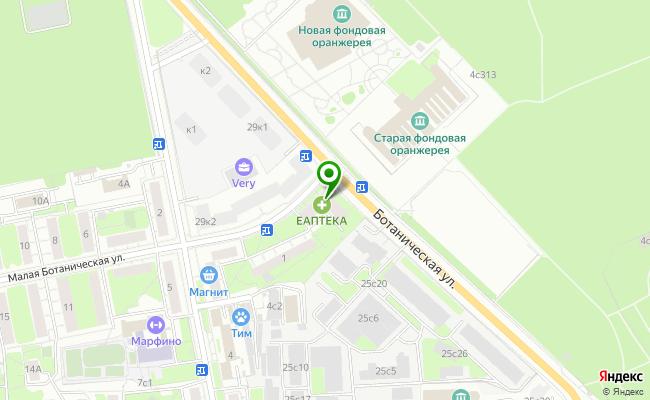 Сбербанк Москва ул. Ботаническая 27 карта