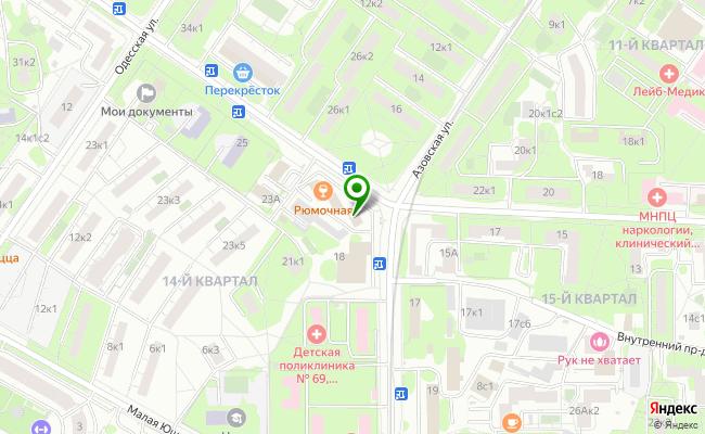 Сбербанк Москва ул. Болотниковская 21, стр.1 карта