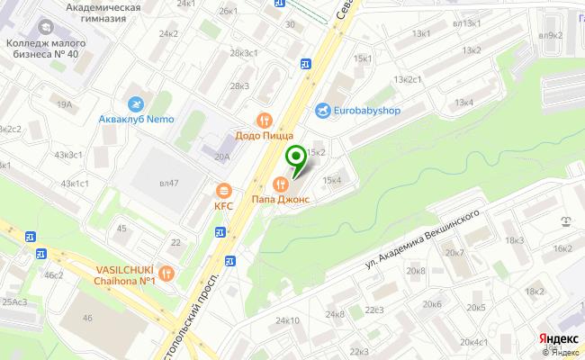 Сбербанк Москва проспект Севастопольский 15, корп.3 карта