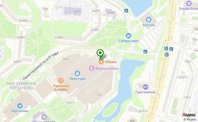 Сбербанк Москва ул. Северное Чертаново 1А карта
