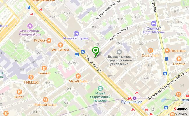 Сбербанк Москва ул. Тверская 22 карта