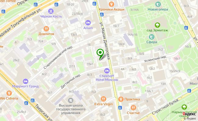 Сбербанк Москва ул. Малая Дмитровка 15 карта