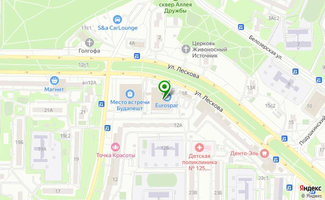 Сбербанк Москва ул. Лескова 16 карта