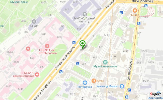 Сбербанк Москва проспект Ленинский 7, стр.3А карта