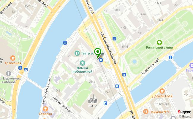 Сбербанк Москва ул. Серафимовича 2 карта