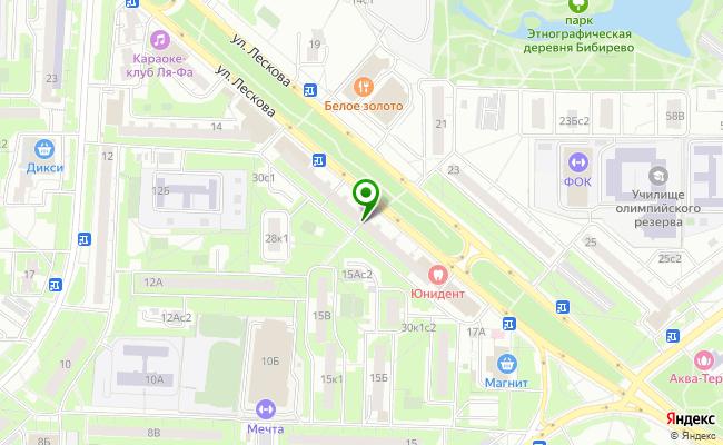 Сбербанк Москва ул. Лескова 30 карта